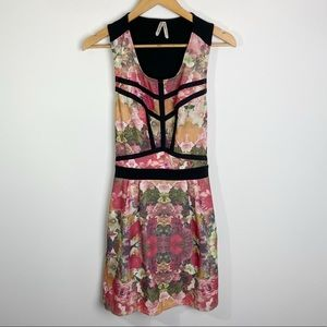 Gentle Fawn Open Back Floral Dress Size M